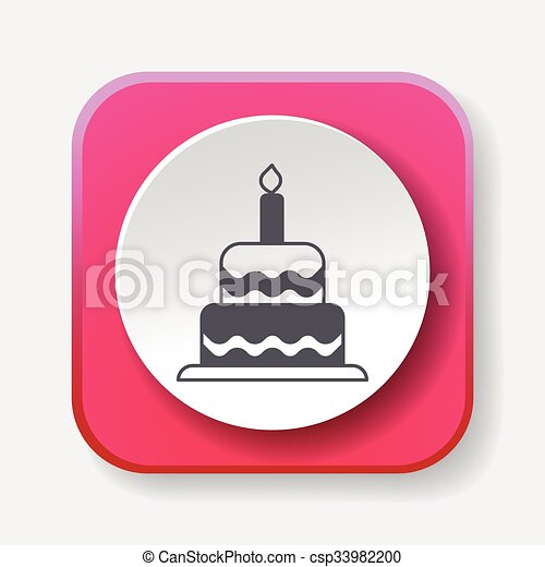 birthday cake icon - csp33982200