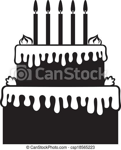 Birthday cake - csp18565223