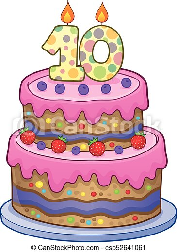 ----------- Birthday-cake-image-for-10-years-old-clip-art-vector_csp52641061