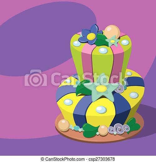 Birthday cake - csp27303678