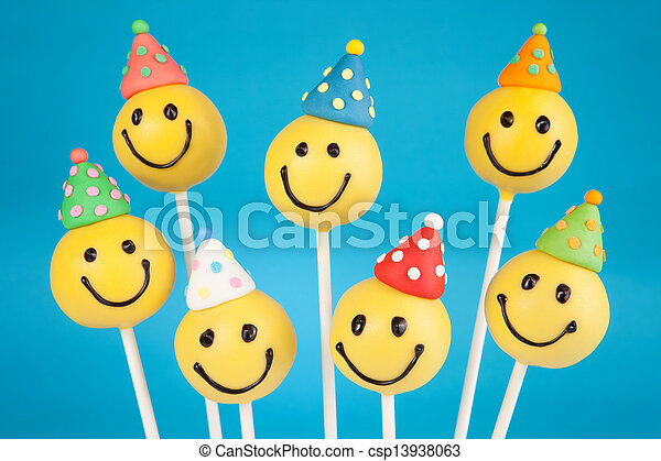 Birthday Cake Pops Smiley Face Cake Pops Round Shaped