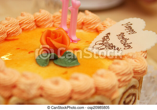 Birthday Cake With Candles Object Photography