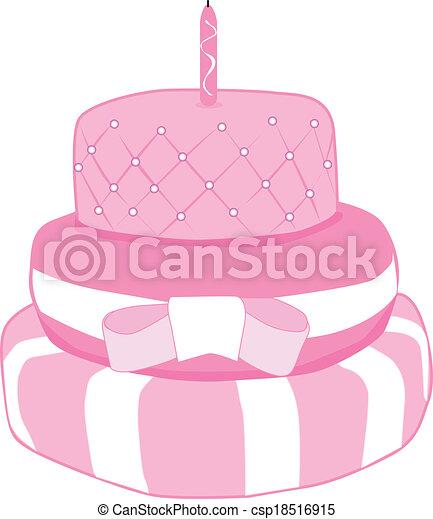 Birthday cake - csp18516915