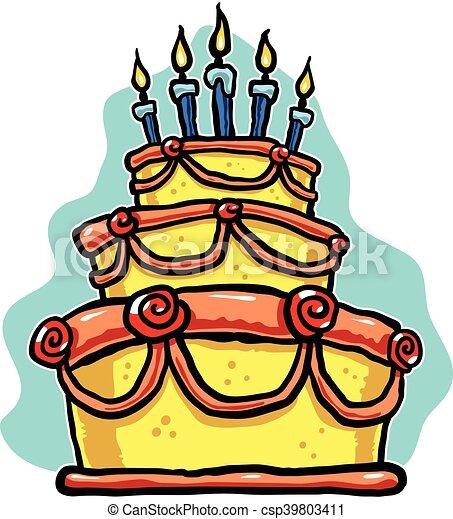 Birthday Cake - csp39803411