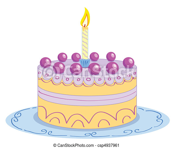 Cartoon birthday cake vector illustration vector clip art Search
