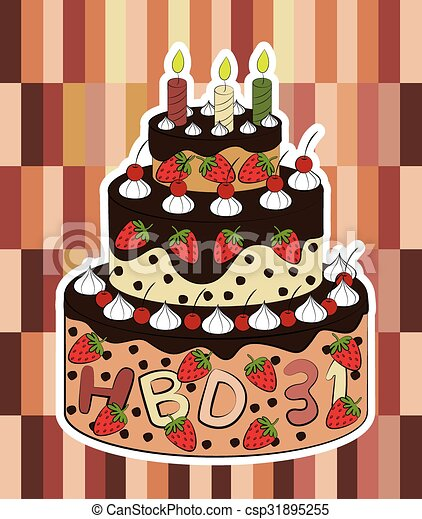 Birthday cake vector clipart vector Search Illustration Drawings