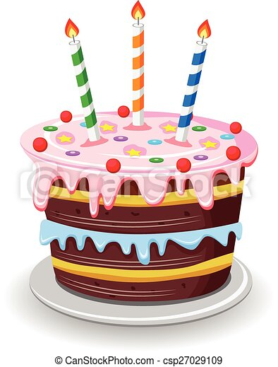 Vector illustration of birthday cake vector clipart Search