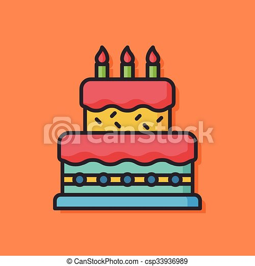 Birthday cake vector icon vector Search Clip Art Illustration