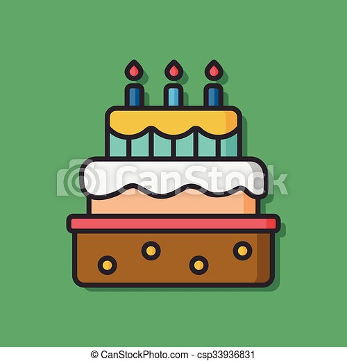 Birthday cake vector icon vectors Search Clip Art Illustration
