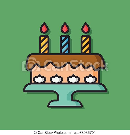 Birthday cake vector icon vector clipart Search Illustration