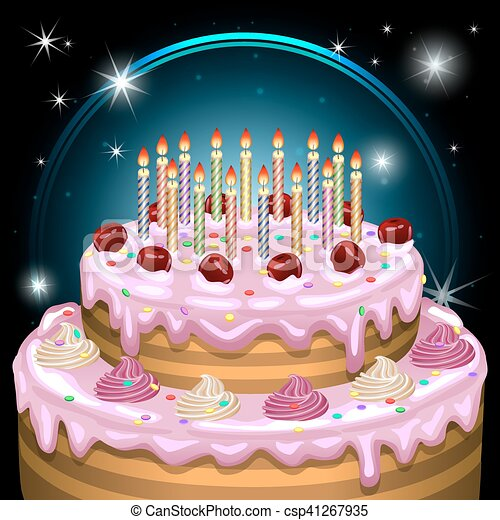 Birthday cake vector illustration Birthday cake vector vectors