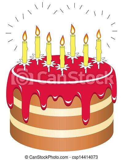 Number  Birthday Cake Clip Art