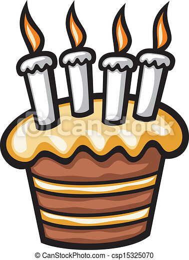 birthday cake with candles - csp15325070