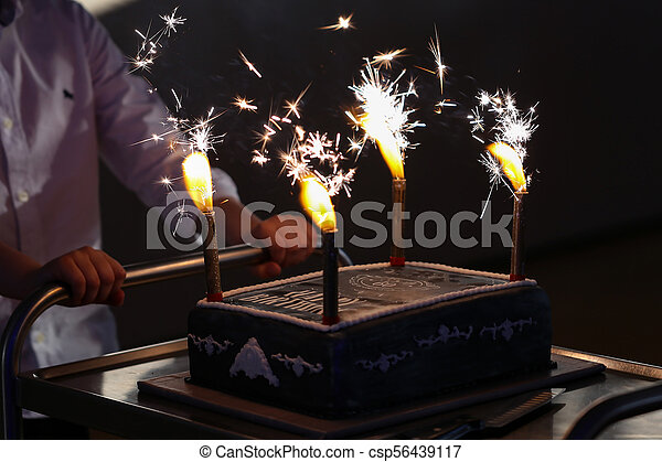 Sensational Birthday Cake With Fireworks Personalised Birthday Cards Paralily Jamesorg