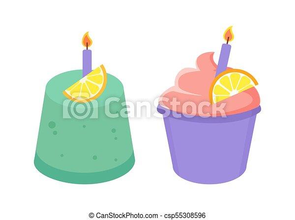 Strange Birthday Cakes Collection Vector Illustration Birthday Cakes Funny Birthday Cards Online Hendilapandamsfinfo