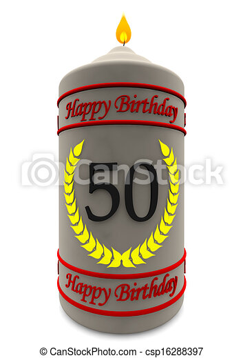 Birthday Candle For 50th