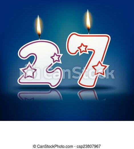 Birthday Candle Number 27 Birthday Candle Number With