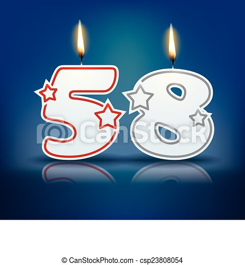 58 >> Birthday Candle Number 58 Birthday Candle Number With Flame Eps
