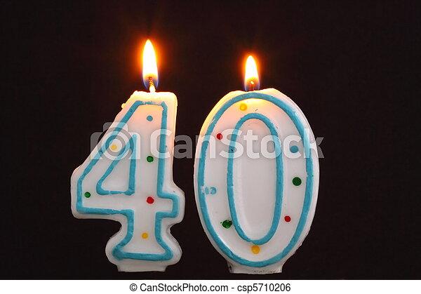 Birthday Candles 40th
