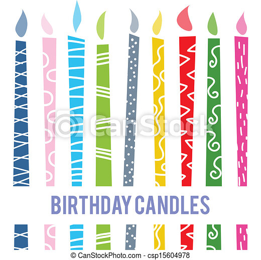 Birthday Candles Clipart Vector And Illustration 22622