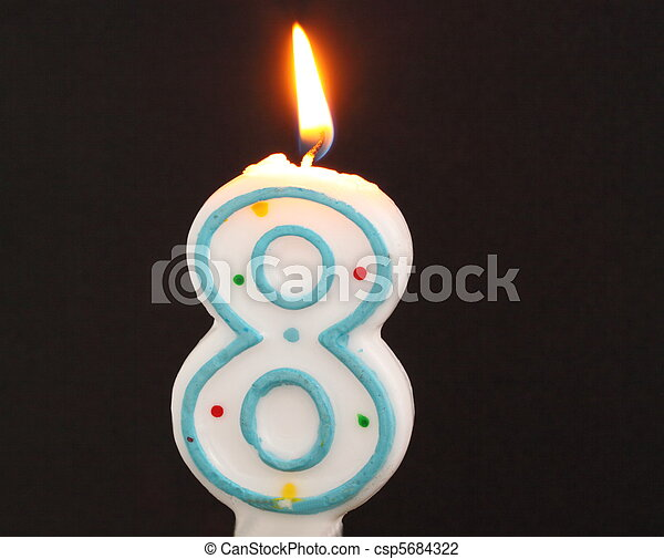 Birthday Candles Number Eight