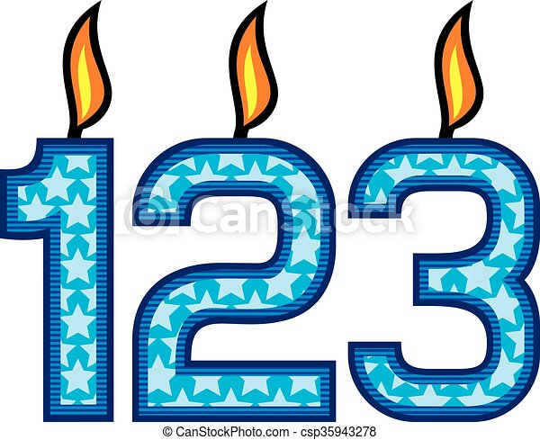 birthday candles number - csp35943278