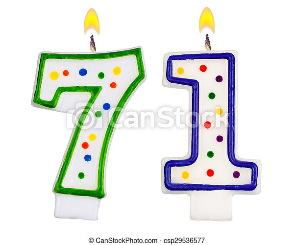 Birthday Candles Number Seventy One
