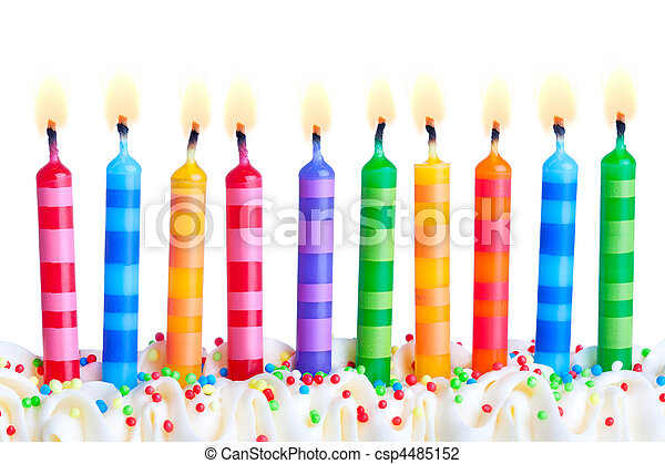 Birthday candles - csp4485152