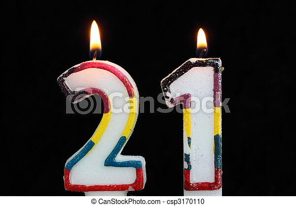 21st Birthday Candles