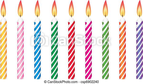 birthday candles - csp6902240