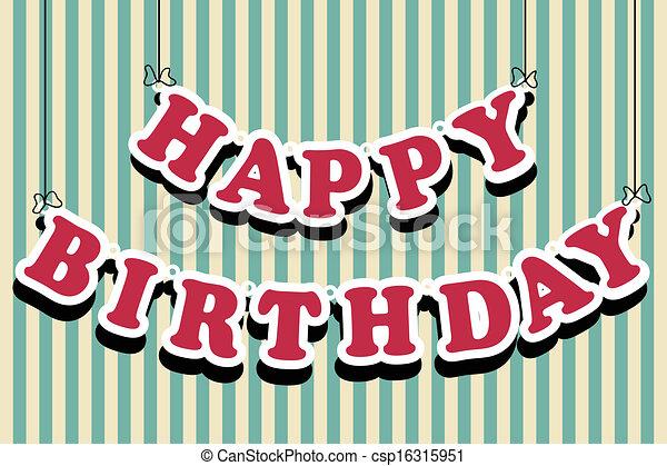 birthday card - csp16315951