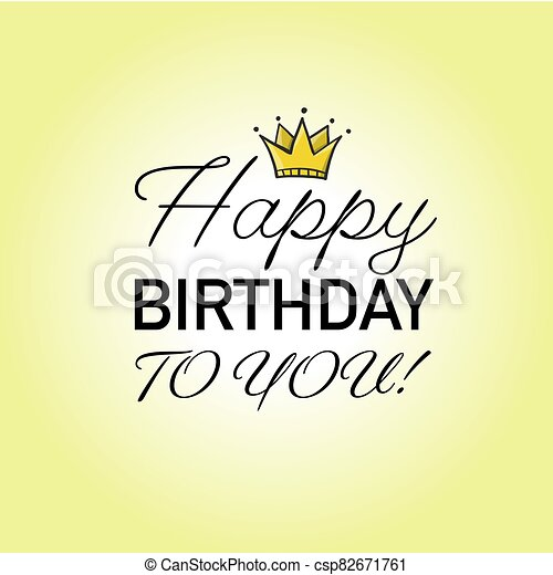 Birthday Card Design Template For Your Print Vector Illustration
