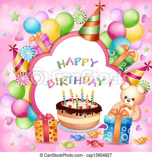 Birthday card  - csp13954827