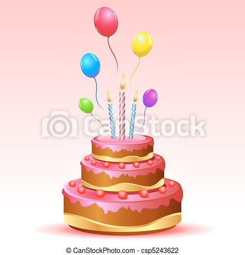 Admirable Illustration Of Birthday Card With Cake And Balloons Funny Birthday Cards Online Barepcheapnameinfo