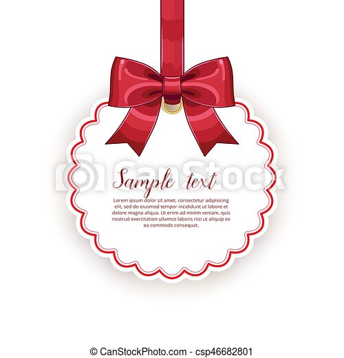 Birthday card template with bow and ribbon vector illustration birthday card template with bow and ribbon vector illustration isolated on white background holiday congratulation event invitation valentine card stopboris Gallery