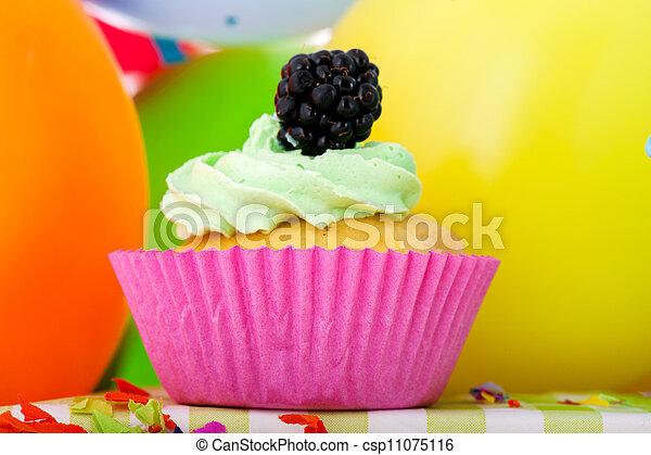 Birthday cupcake - csp11075116