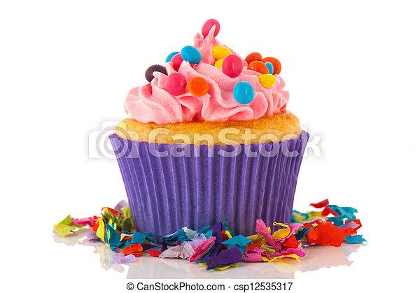 Birthday cupcake - csp12535317