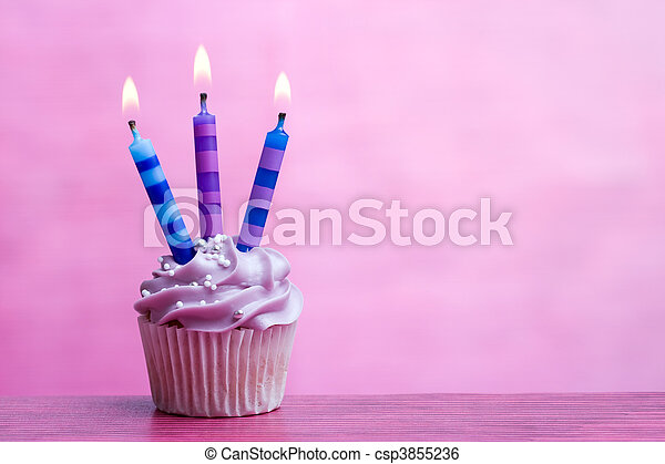 Birthday cupcake - csp3855236