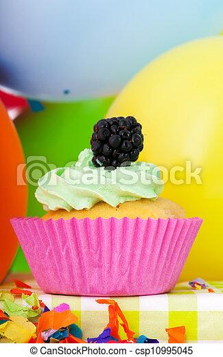 Birthday cupcake - csp10995045