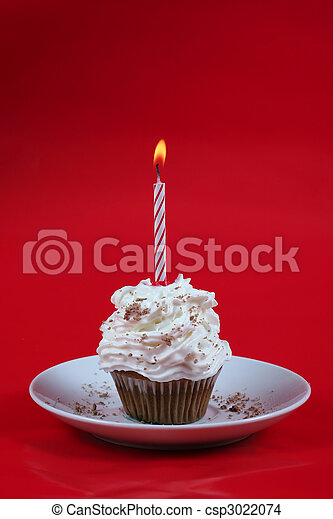 Birthday cupcake - csp3022074