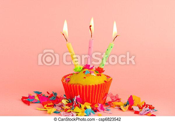 Birthday cupcake - csp6823542
