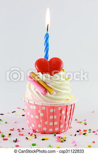 Birthday cupcake - csp31122833