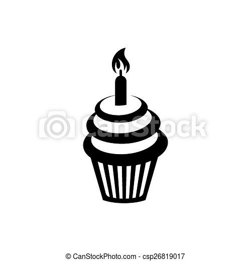 Birthday cupcake - csp26819017