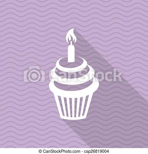 Birthday cupcake - csp26819004