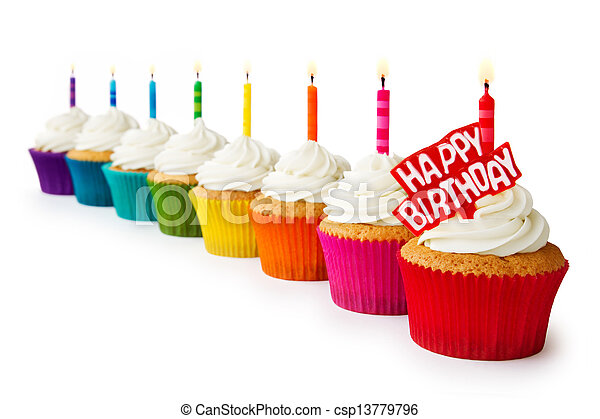 birthday, cupcakes - csp13779796