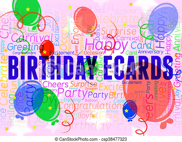 Birthday ecards represents www celebration and internet stock birthday ecards represents www celebration and internet csp38477323 bookmarktalkfo