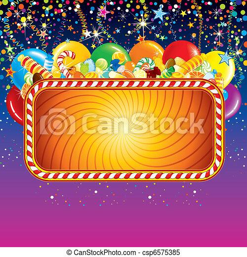 Birthday Feast Billboard - csp6575385