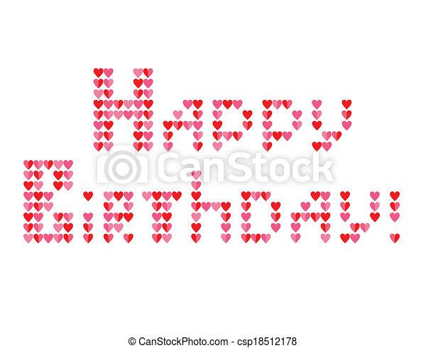 ¡Feliz cumpleaños! - csp18512178