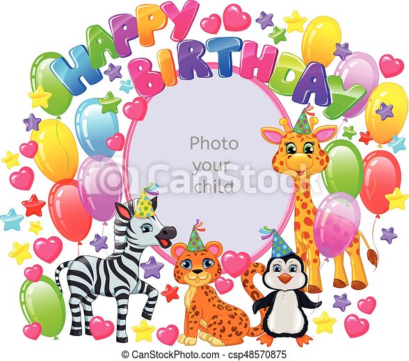 Birthday frame for your baby photo - csp48570875