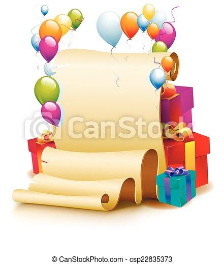 Birthday Frame - csp22835373